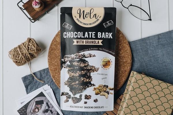 Pengen Cokelat Enak dan Sehat? Nola Chocolate Bark with Granola Cocok Buat Kamu! Harganya Cuma 36 Ribu!