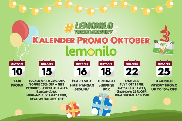 Banyak Promo Super di Bulan Oktober, Kuy Cek Kalendernya!