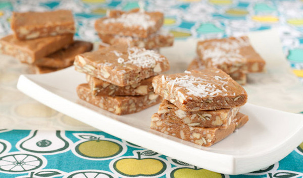 Nuts and Seeds Toffee Squares