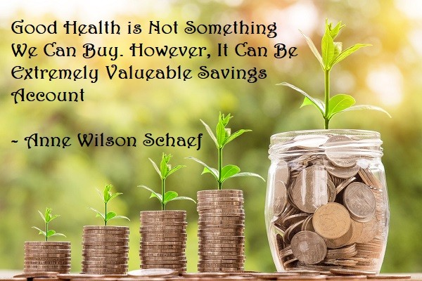 Good Health is Not Something We Can Buy. However, It Can Be Extremely Valueable Savings Account