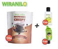 Paket Brownies Crispy Chocochips Isi 10 GRATIS 1 Holder dan Naturizer Lemongrass Gel 50ml - Wiranilo