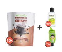 Paket Brownies Crispy Chocochips Isi 10 GRATIS 1 Holder dan Naturizer Lemongrass Gel 50ml
