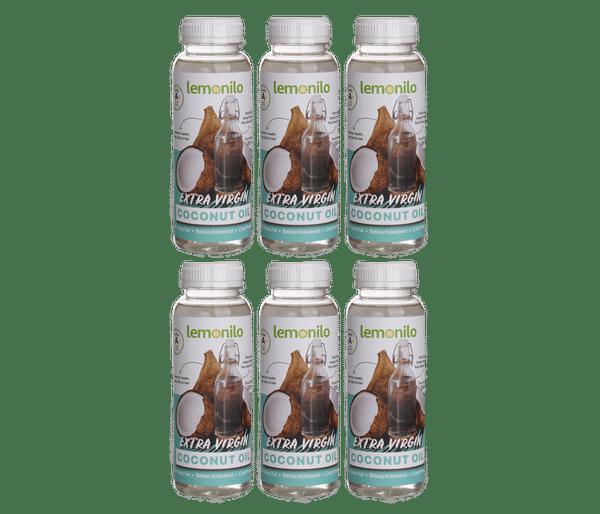 LemoniloBox 100% Organic Extra Virgin Coconut Oil (VCO) 250 ml (Pack of 6) 0