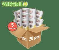 5 Karton (Isi 20) Brownies Crispy Rasa Keju - Wiranilo